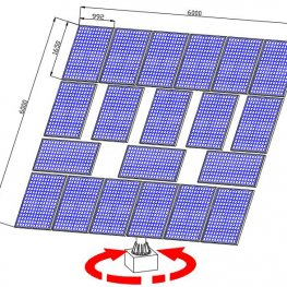 completed solar tracking system