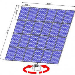 completed solar tracker