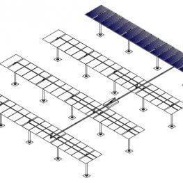 low price single axis solar tracker