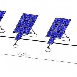 single axial solar tracker
